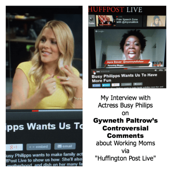 [VIDEO] My Interview with Actress Busy Philips on Gywneth Paltrow's Comments about Working Moms