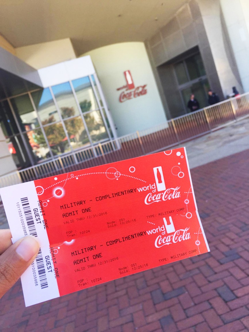 World-of Coca Cola Veterans Day offer