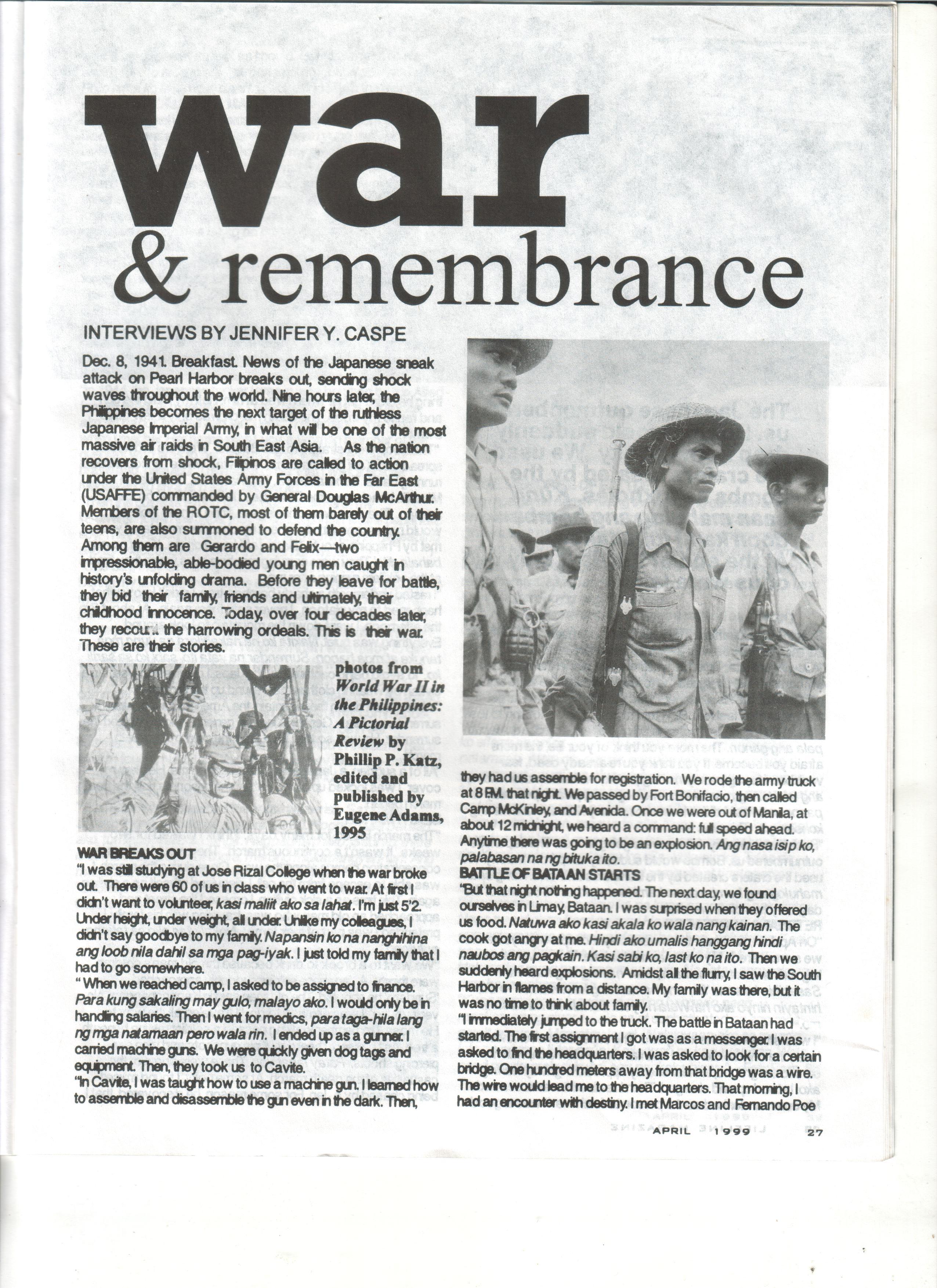 04-99 War & Remembrance 1