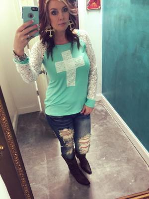 Gypsy Lace Cross Top