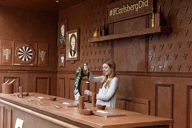 carlsberg chocolate bar