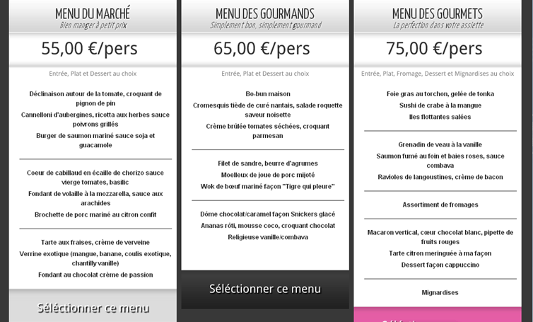 menu invite1chef de cuisine