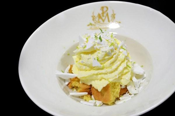 Dessert, crémeux, citron vert, Camille Payan, restaurant, tarte, Palais de la Major, Marseille