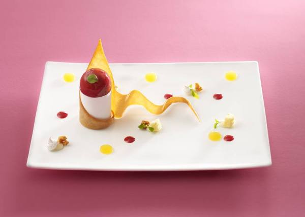 dressage dessert à l'assiette