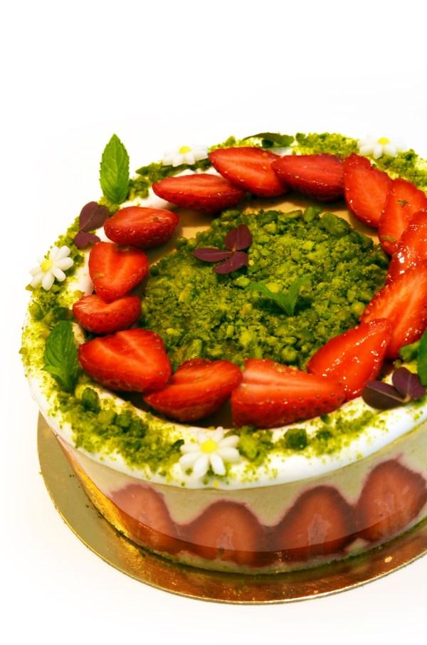 dessert fraise pistache