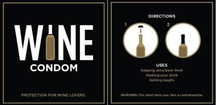 préservatif et vin : parfait melange