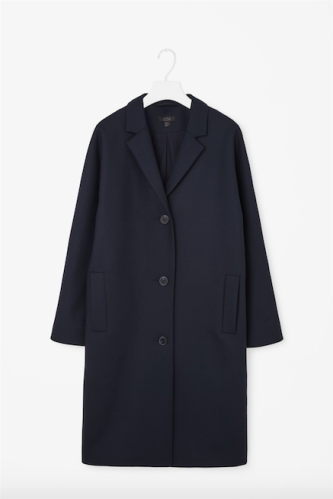 Single-breasted wool coat COS