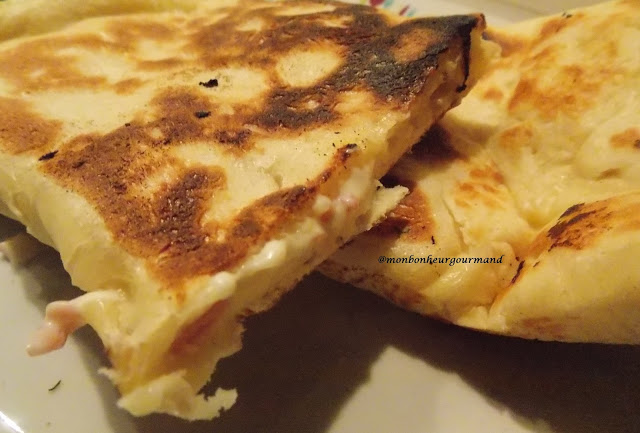 Naans jambon & fromage
