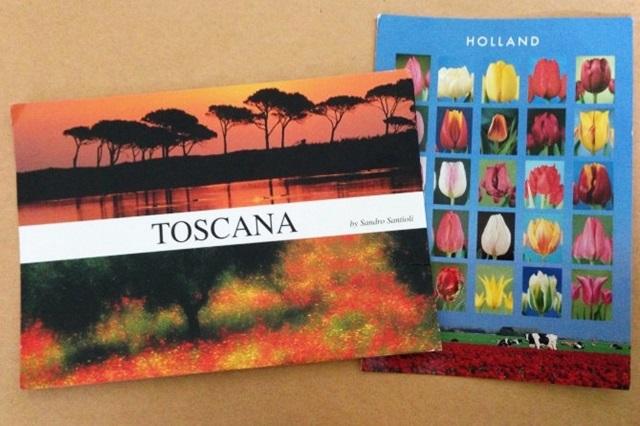 "poscard from toscana ""fostcard from Holland"""
