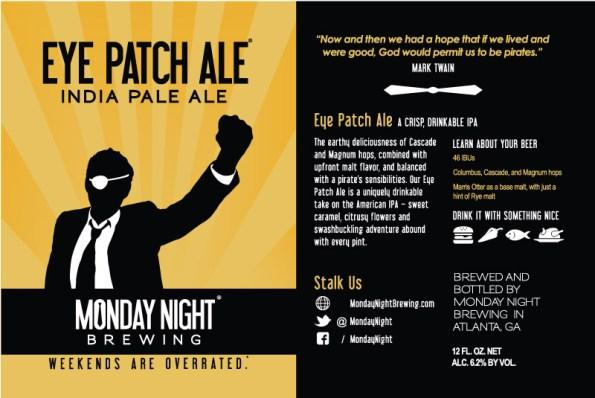 Eye Patch Ale Label
