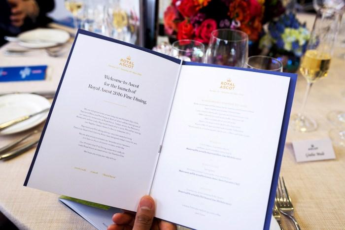 Fine Dining at Panoramic Restaurant, Royal Ascot