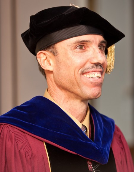 Dr. Hassan El-Nabih receiving his Ph.D. from Boston College.