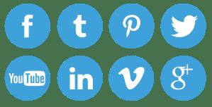 Иконки социальных сетей в Chaturbate