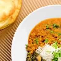 Vij's mung beans in coconut curry