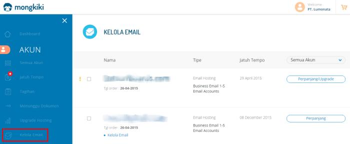 1 Kelola Email Mongkipanel