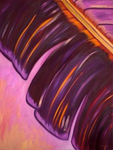 Monika Ruiz Art - Purple, Yellow Vein