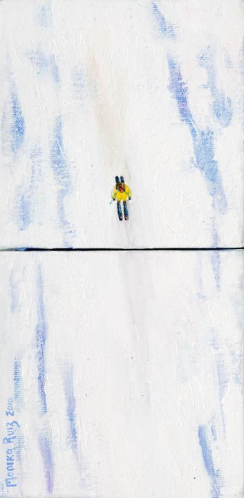 Monika Ruiz Art - Skiing
