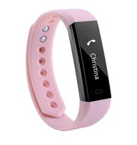 Fitness Tracker NewYouDirect Smart Watch Activity Tracker Pedometer Sweatproof Sports Bracelet with Sleep Monitor Calorie/Step Counter Bluetooth 4.1 for Android IOS(Pink)