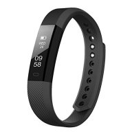 LETSCOM Fitness Tracker Watch with Slim Touch Screen and Wristbands, Wearable Activity Tracker as Pedometer Sleep Monitor,Black for Android and iOS