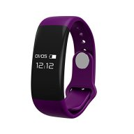 Fitness tracker, B2Future Bluetooth Fitness Tracker Watch, Water Resistant OLED Screen Fitness Tracker Smartwatch with Heart Rate Monitor Pedometer Smart Wristband Band (Purple, 0.66)