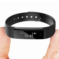 Fitness Trackers TopBest Bluetooth Call Remind Remote Self-Timer Slim Smart Bracelet Calorie Counter Wireless Pedometer Band Sport Sleep Monitor Activity Tracker For Android iOS Phone (Black)
