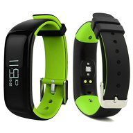 LEMFO P1 Bluetooth Waterproof Fitness Tracker with Heart Rate Monitor and Blood Pressure Sports Smart Wristband Pedometer Smart Bracelet Call Reminder Smart Band For Android iOS (Green)