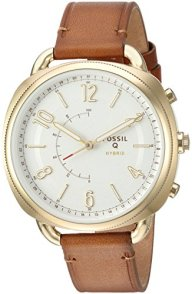 Fossil Q Hybrid Smartwatch Women's Accomplice Slim Luggage Leather FTW1201