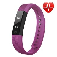 Fitness Tracker, LETSCOM Fitness Tracker Watch with Heart Rate Monitor, Slim Touch Screen and Wristbands, Wearable Waterproof Activity Tracker Pedometer for Android and Ios