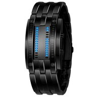Binmer(TM)Luxury Men Watch Stainless Steel Date Digital LED Bracelet Sport Watches Black