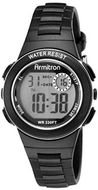 Armitron Sport Women's 45/7046BLK Digital Chronograph Black Resin Strap Watch
