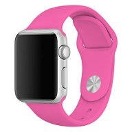 Zyra Sport Band for Apple Watch 38mm S/M, Soft Silicone Strap Replacement iWatch Bands for Apple Watch Sport, Series 2, Series 1 Barbie pink