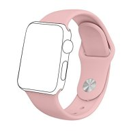 Zyra Sport Band for Apple Watch 42mm S/M, Soft Silicone Strap Replacement iWatch Bands for Apple Watch Sport, Series 2, Series 1 Pink Sand