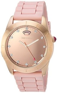 Juicy Couture Women's 'Couture Connect' Quartz and Silicone Smart Watch, Color:Rose Gold-Toned (Model: 1901546)