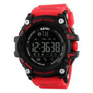 Mens Smart Sport Digital Watch With Remote Camera Calorie Pedometer Waterproof Bluetooth-Red