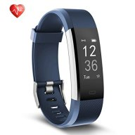 Fitness Tracker, Semaco Heart Rate Monitor Waterproof Activity Health Tracker Bluetooth Wireless Smart Bracelet with Pedometer Sleep Monitor Step Calorie Counter Activity Wristband (blue)