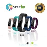 StepUp Fitness Tracker Pedometer – Activity Monitor 100% Waterproof Adjustable Wristband, Ultra-HD Step/Calorie Counter for Android & iOS