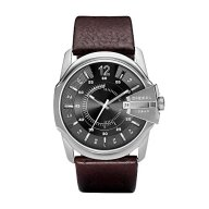 Diesel Men's DZ1206 Master Chief Stainless Steel Brown Leather Watch