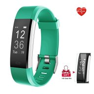 Fitness Tracker, AIEX Heart Rate Monitor Smart Watch With Connected GPS Tracker, 14 Sports Mode, Message Notification,Waterproof Activity Tracker for Android and iOS with Gift Screen Protector (Green)