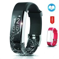 Fitness Tracker- Waterproof Activity Tracker Heart Rate Monitors Sleep Tracking Wireless Bluetooth Activity Tracker Smart Bracelet Pedometer Fitness Sports Wristbands