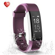Fitness Tracker, Semaco Heart Rate Monitor Waterproof Activity Health Tracker Bluetooth Wireless Smart Bracelet with Pedometer Sleep Monitor Step Calorie Counter Activity Wristband (purple)