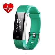 LETUFIT PLUS Fitness Tracker + Heart Rate Monitor,IP67 Waterproof Smart Wristband With Pedometer Watch for Android and Ios (green)