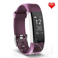 Fitness Tracker, Waterproof Activity Tracker with Heart Rate Monitor Bluetooth Smart Watch Wireless Smart Bracelet Sleep Monitor Pedometer Wristband for Android and iOS Smartphone (purple)