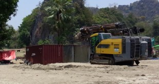 Bulldozer seen on June Cement Industry Ltd's land (Photo: MNA)