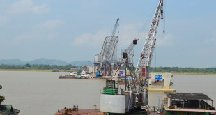 Thanlwin (Chaungzone) Bridge under construction (Photo: MNA)
