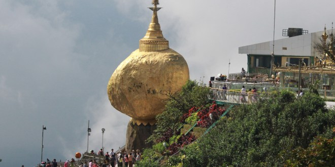 "The Popular Kyaiktiyo Pagoda, ""The Golden Rock"" (Photo: MNA)"