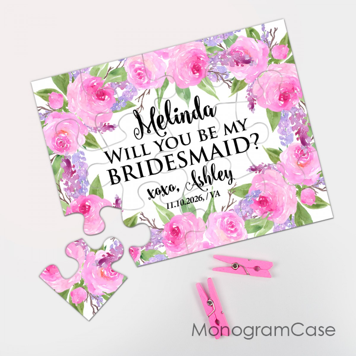 Fascinating Floral Wedding Will You Be My Bridesmaid Puzzle Bridesmaid Proposal Puzzle Will You Be My Bridesmaid Quotes Will You Be My Bridesmaid Cards Target inspiration Will You Be My Bridesmaid