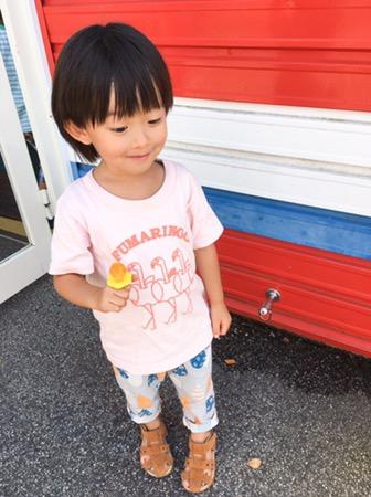 フラミンゴ+リンゴ!フマリンゴのオシャレな親子コーデ