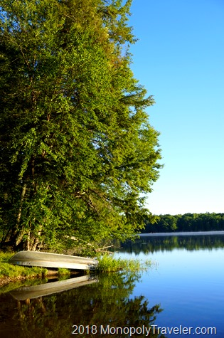 View of Lost Lake near the cabins