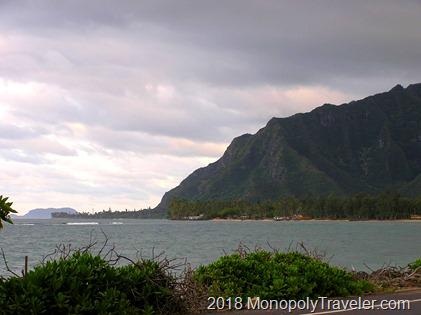Mountains meet the ocean on Oahu