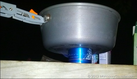 Bottle Stove in Action